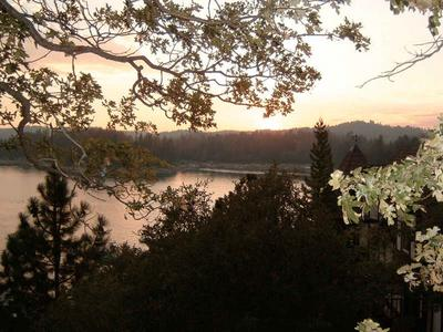 Lake Arrowhead at Sunset, from Wikipedia (Public Domain)