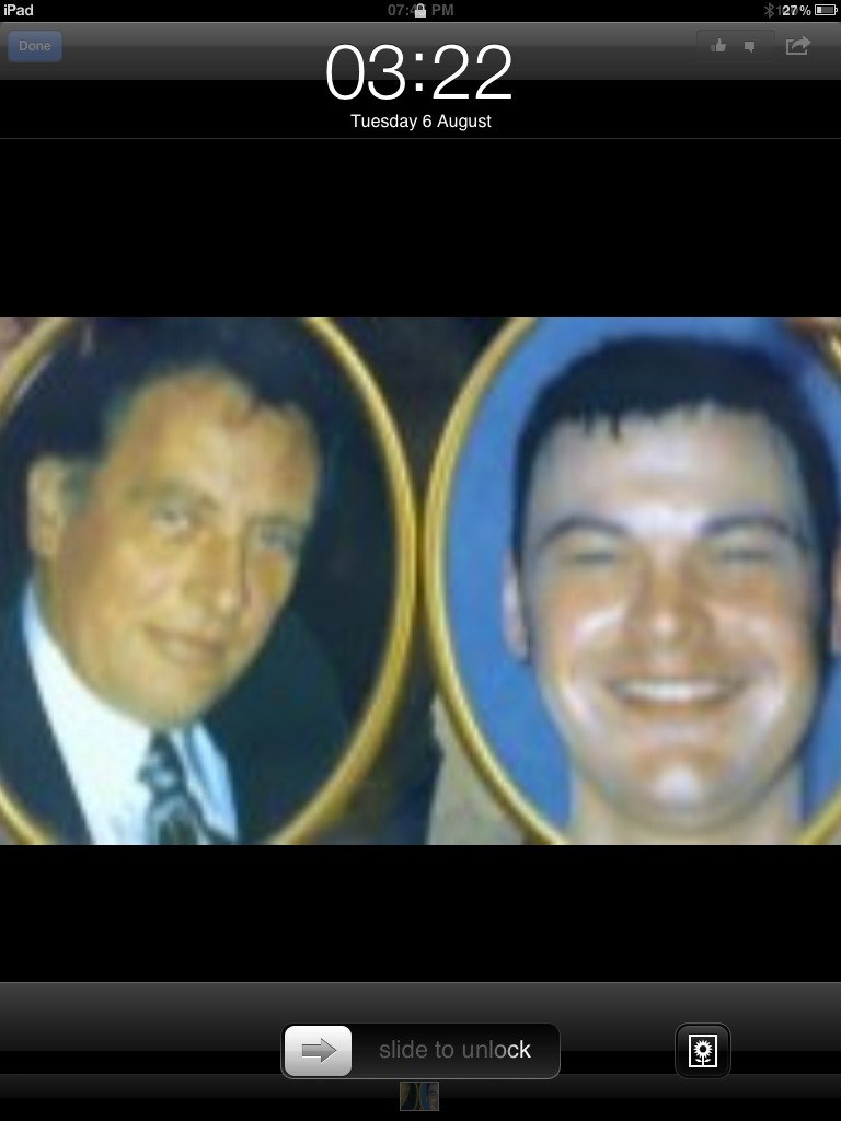 My husband KEV and my youngest son Neil. Killed together.