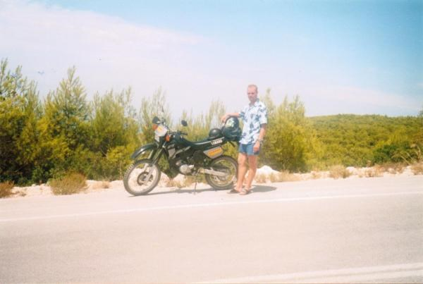 Andy on Holiday - He loved his bikes