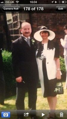 mum and dad at francis and helen's wedding 2000