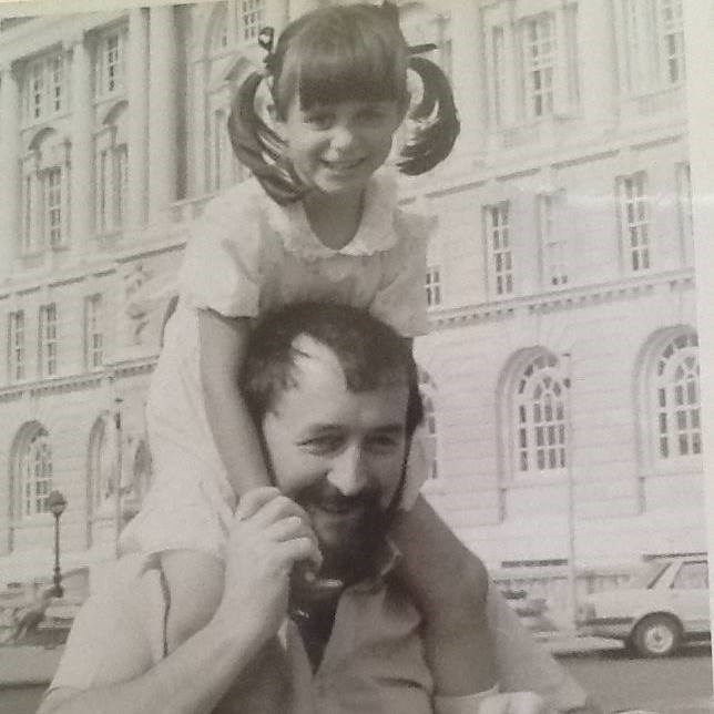 Me and my Dad at the Pier Head, Liverpool