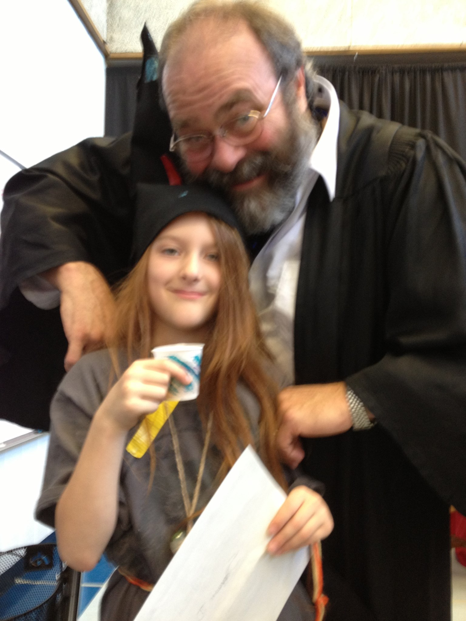 Mark as Hogwarts headmaster at Wizard Camp 2012 -- my daughter loved him!!