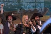 Mark was the emcee of the Portland Pirate Fest. Left to right - Dave Nichols, Kate Larsen and Mark.