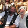Mark Lewis and me at St. Helena's Guild Yard, Southern Faire.