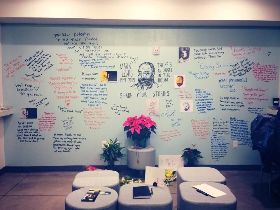 Memorial for Mark Lewis at the University of Oregon School of Jouralism and Communication.
