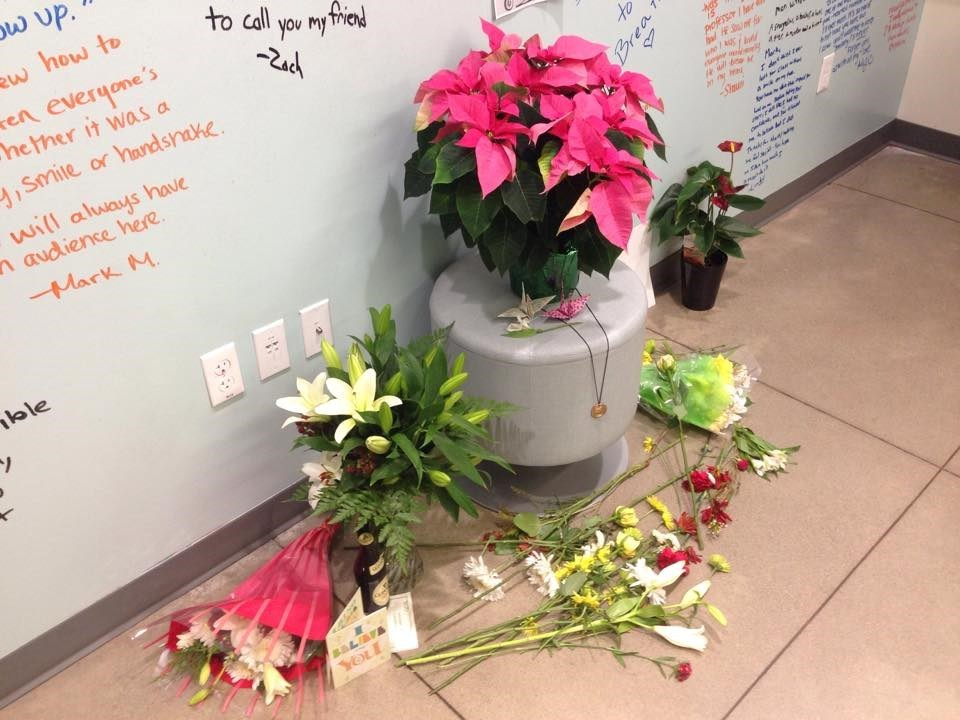 Memorial for Mark Lewis at the University of Oregon School of Jouralism and Communication