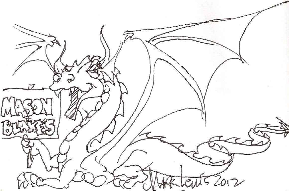 Mark Lewis Artist, A Dragon For Mason & Blake July 2012