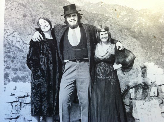 Mark sight-seeing with the ladies, circa 1920-1974