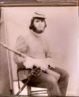 Young Mark Lewis circa 1972 in Civil War costume