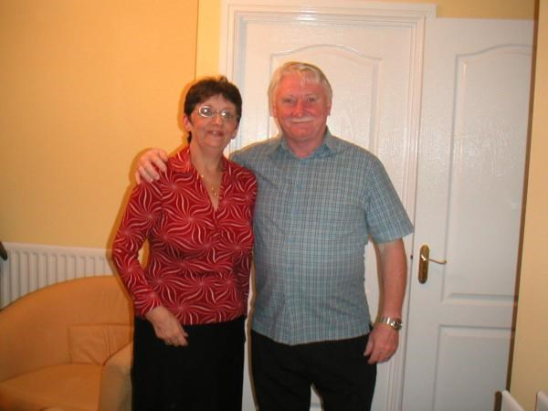 John with his wife Pam