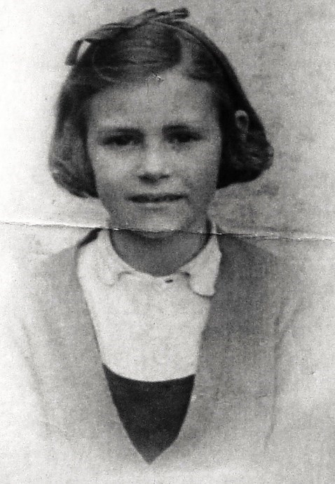 3 Frances approx 8yrs old 1945