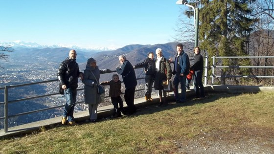 A visit to Brunate, above Lake Como, Italy - with some of Germana's family