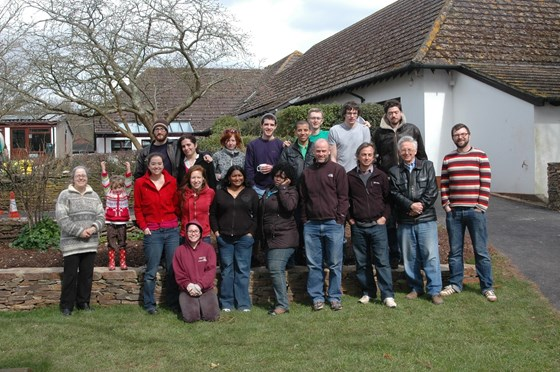David with colleagues and MSc students in April 2010 at the Parasitology/Entomology Field Course in Slapton, Devon.