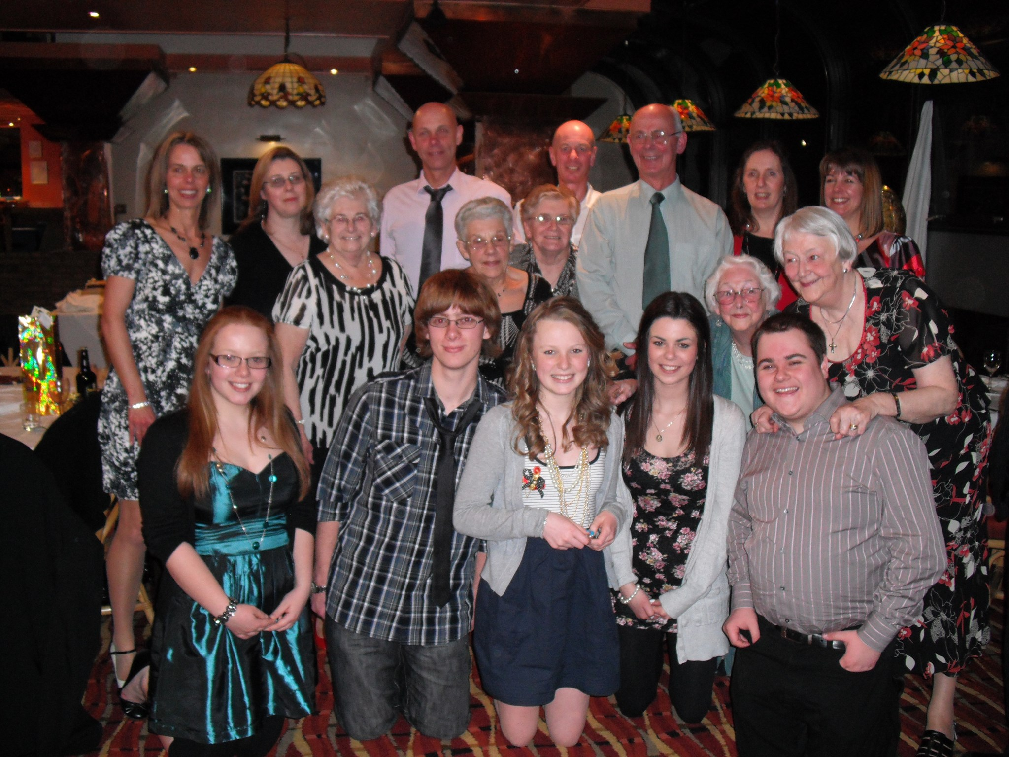 family group at golden wed