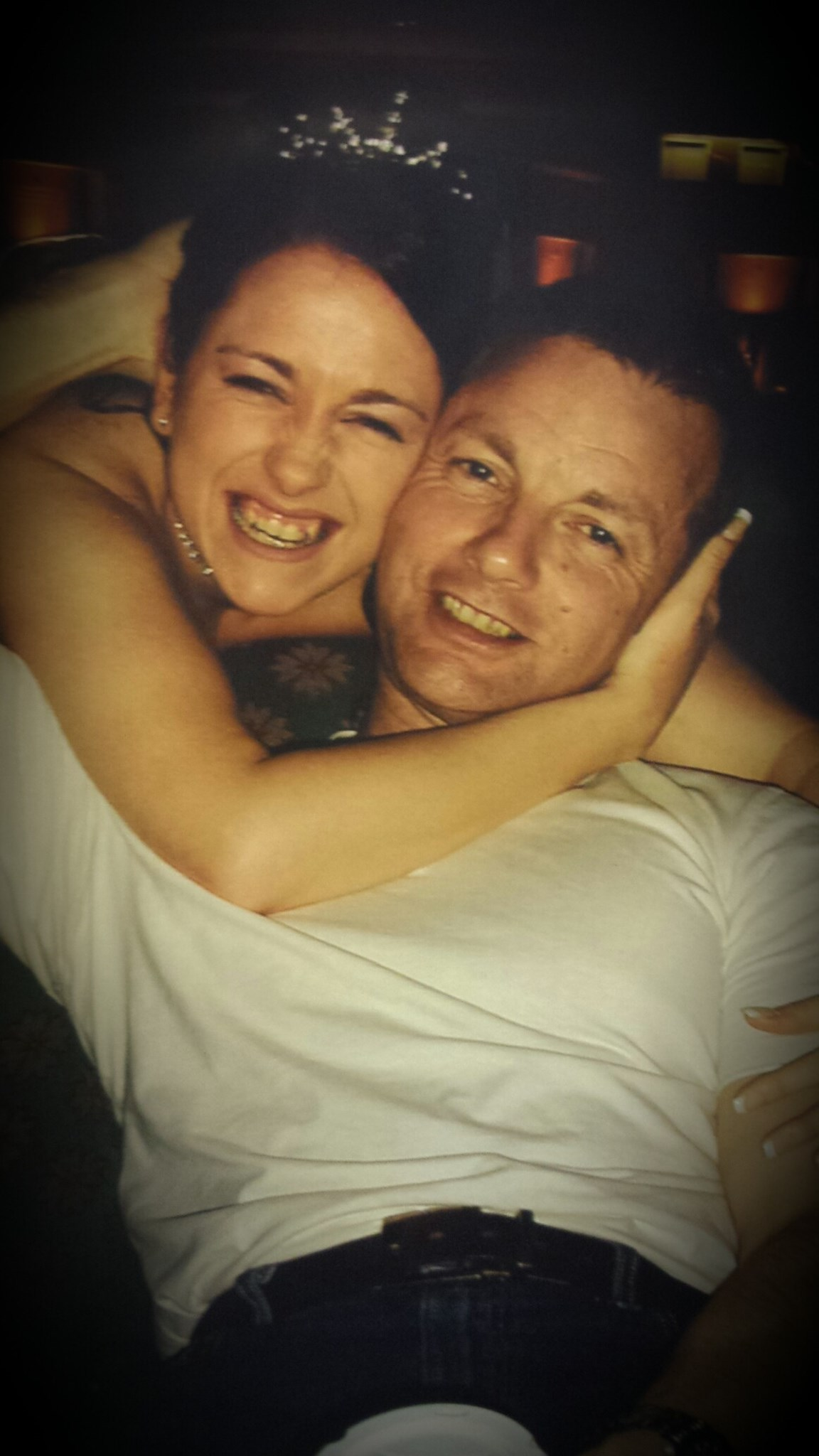 rich and me on my wedding day 20.03.2005 the very moment I found out he was going to be a dad xx