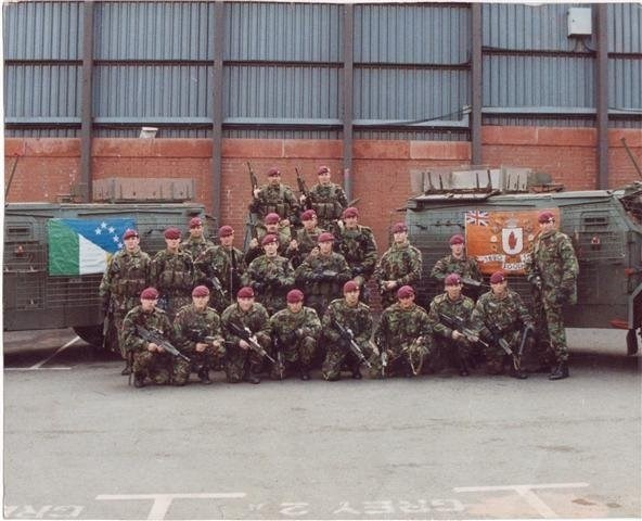 RUC wood burn Northern Ireland Richard 2nd row 3rd in from left
