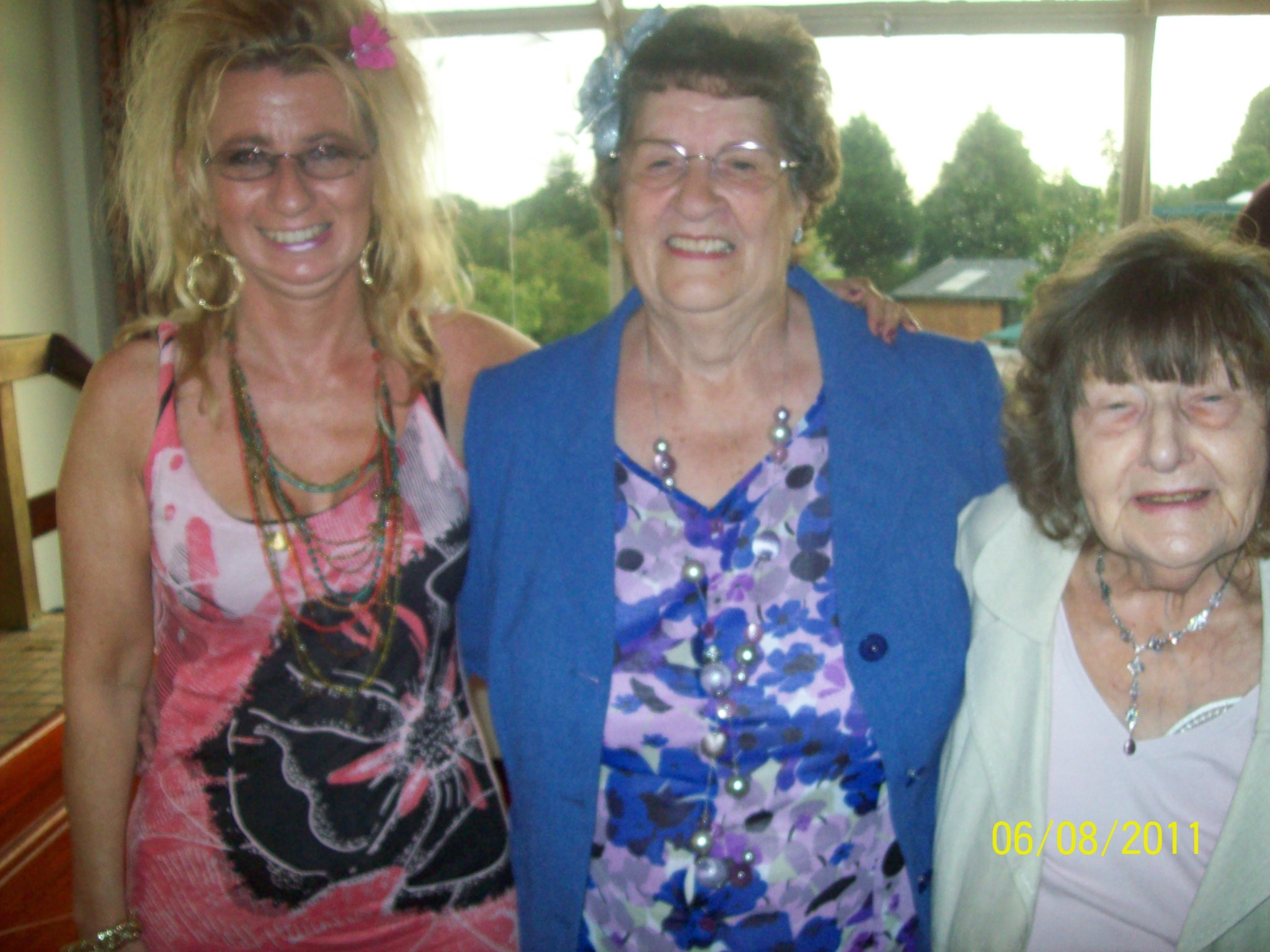 At a Wedding Reception. Michelle, Edna's sister Pat & Edna