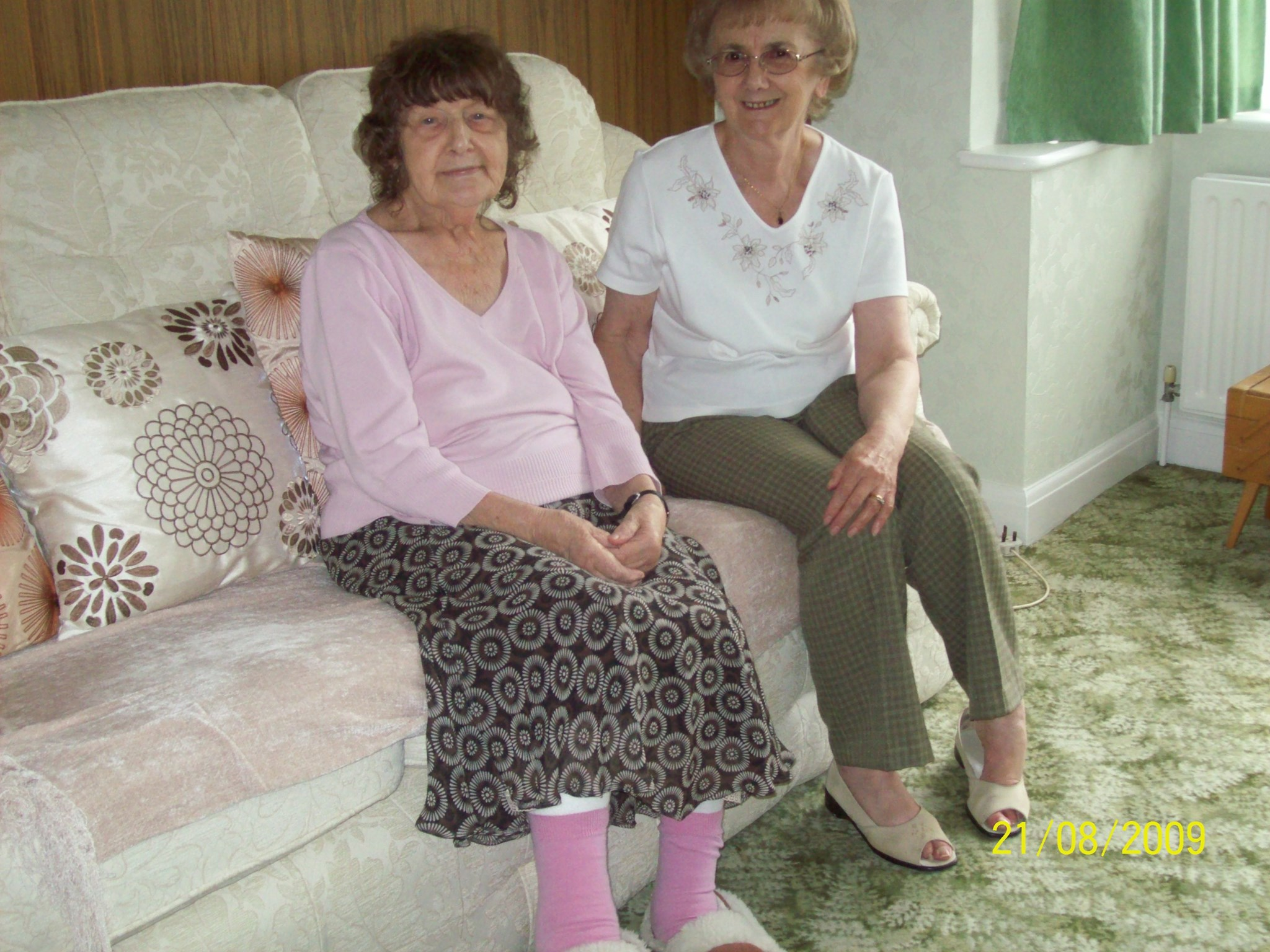 Mum with sister in law Joyce.