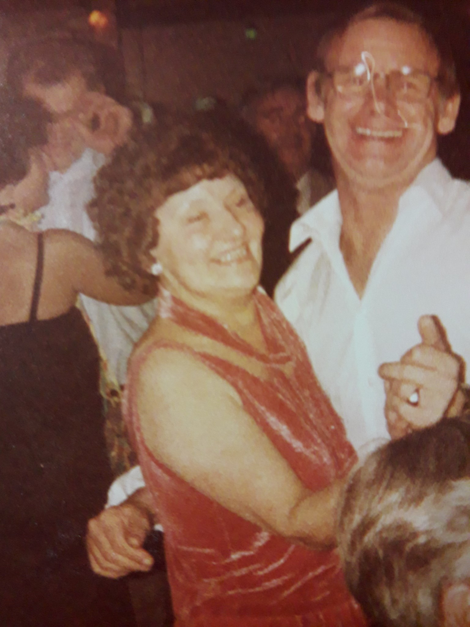 Edna & Fred at The Legions Club, Hayling Island. 1980's