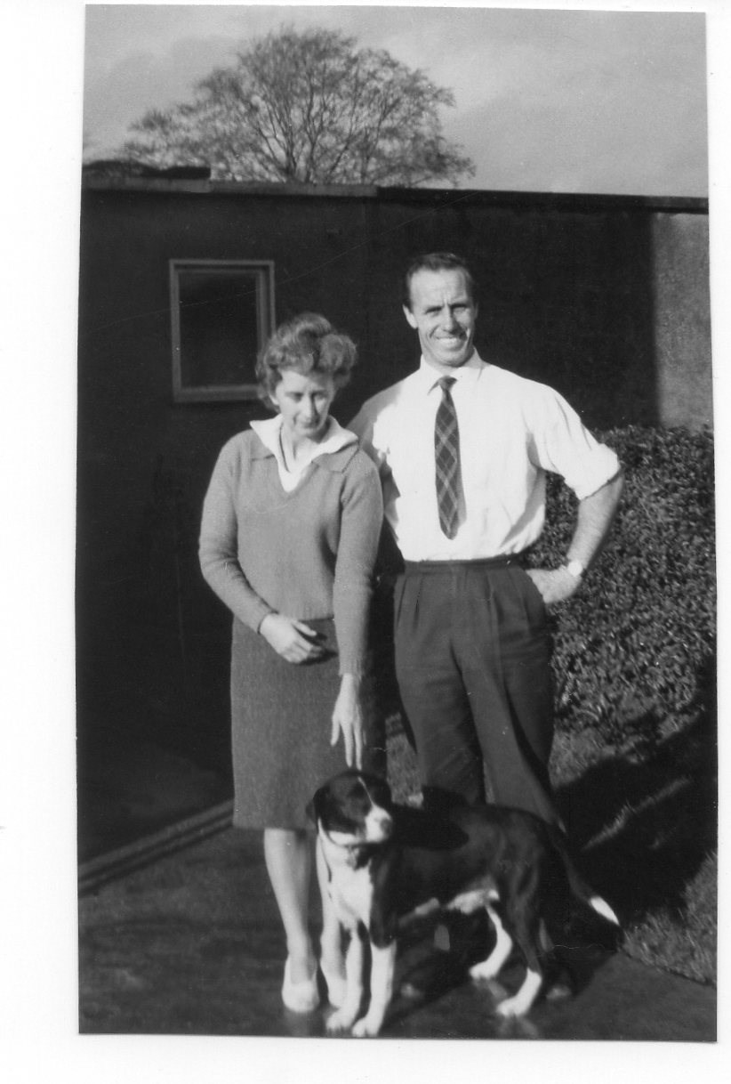 Camley Green c 1962 - Margaret & Norman with Bimbo
