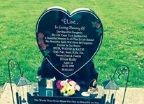 had your head stone fitted my little girl love you loads xxxx