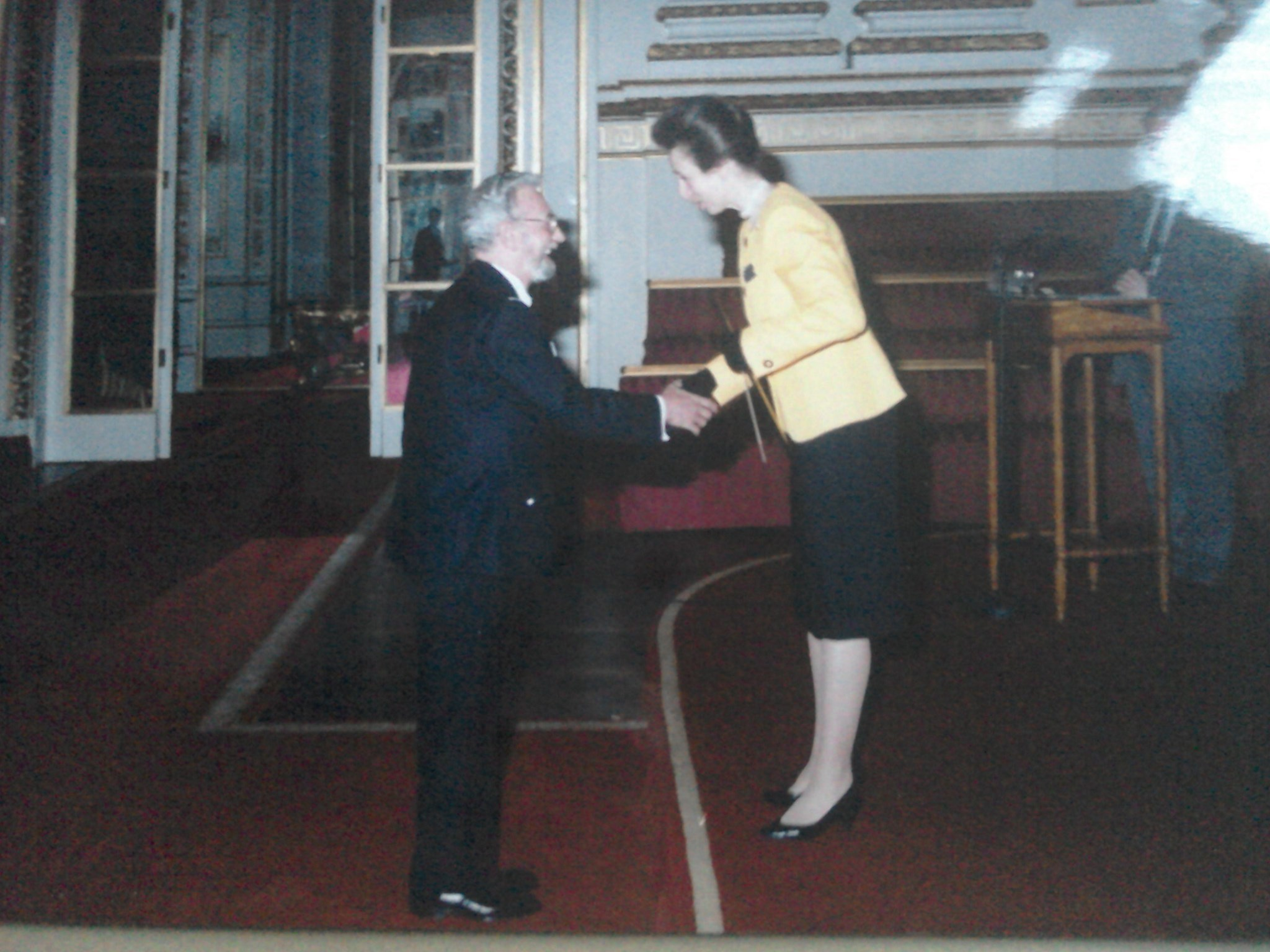 Tony being presented with the Butler Award by Princess Anne