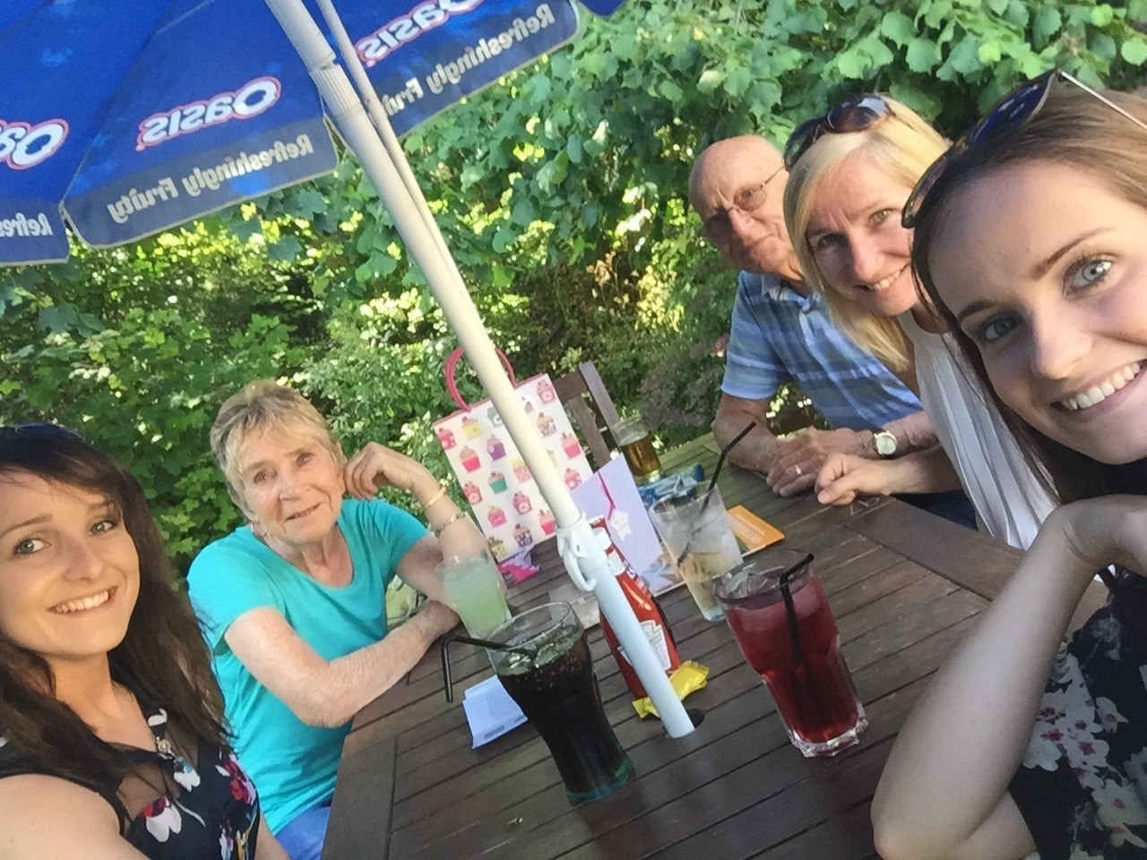 Nans birthday last year with her selfie stick!