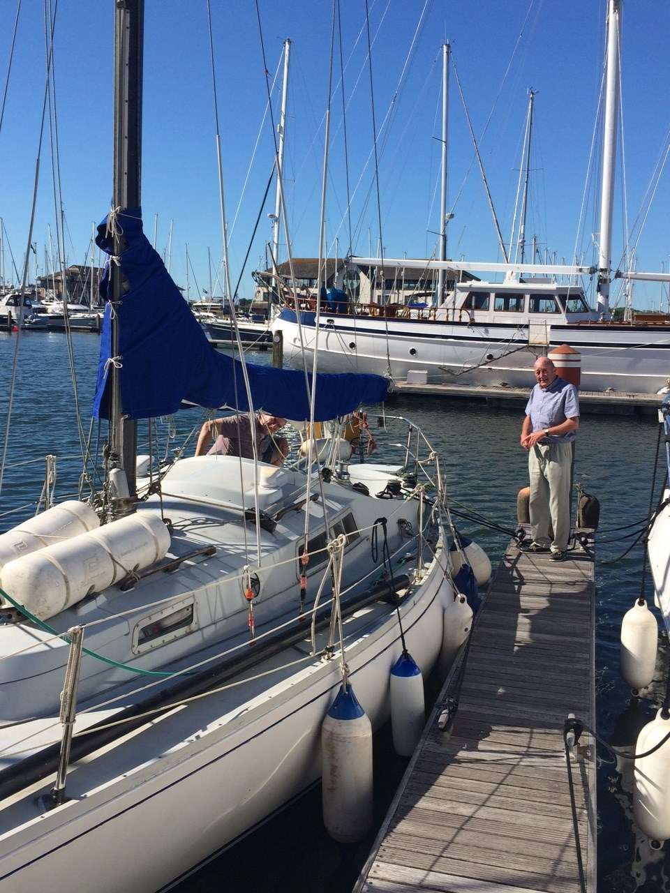 Putting Zeus back on her berth, July 5th 2015