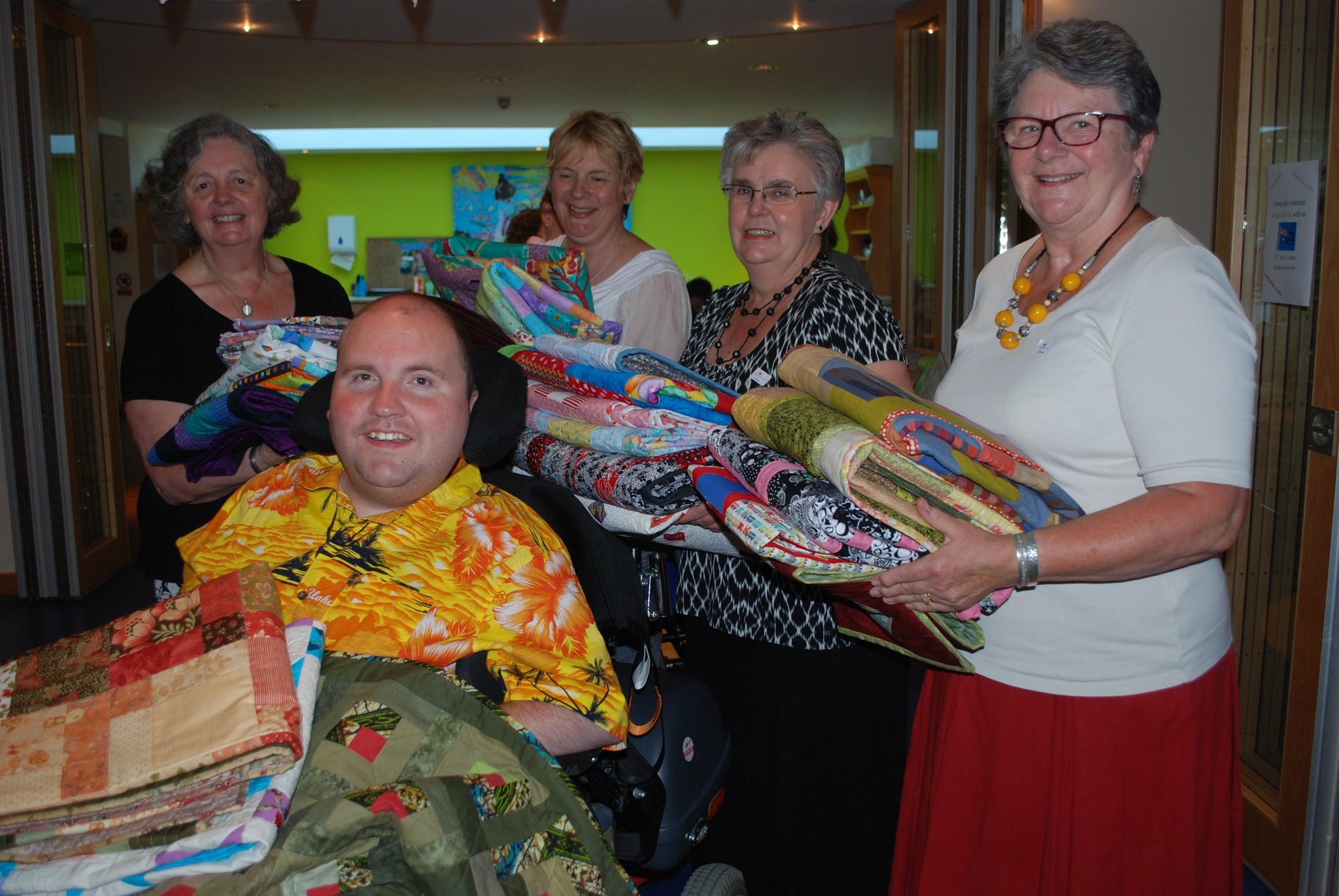 James and the Quilting Ladies. June 2014
