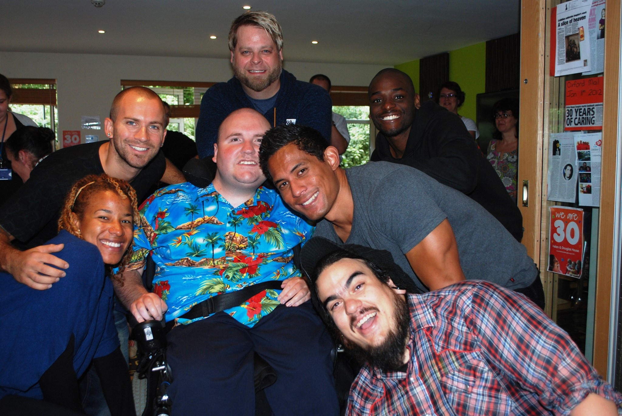James with the cast from STOMP! Oct 2012