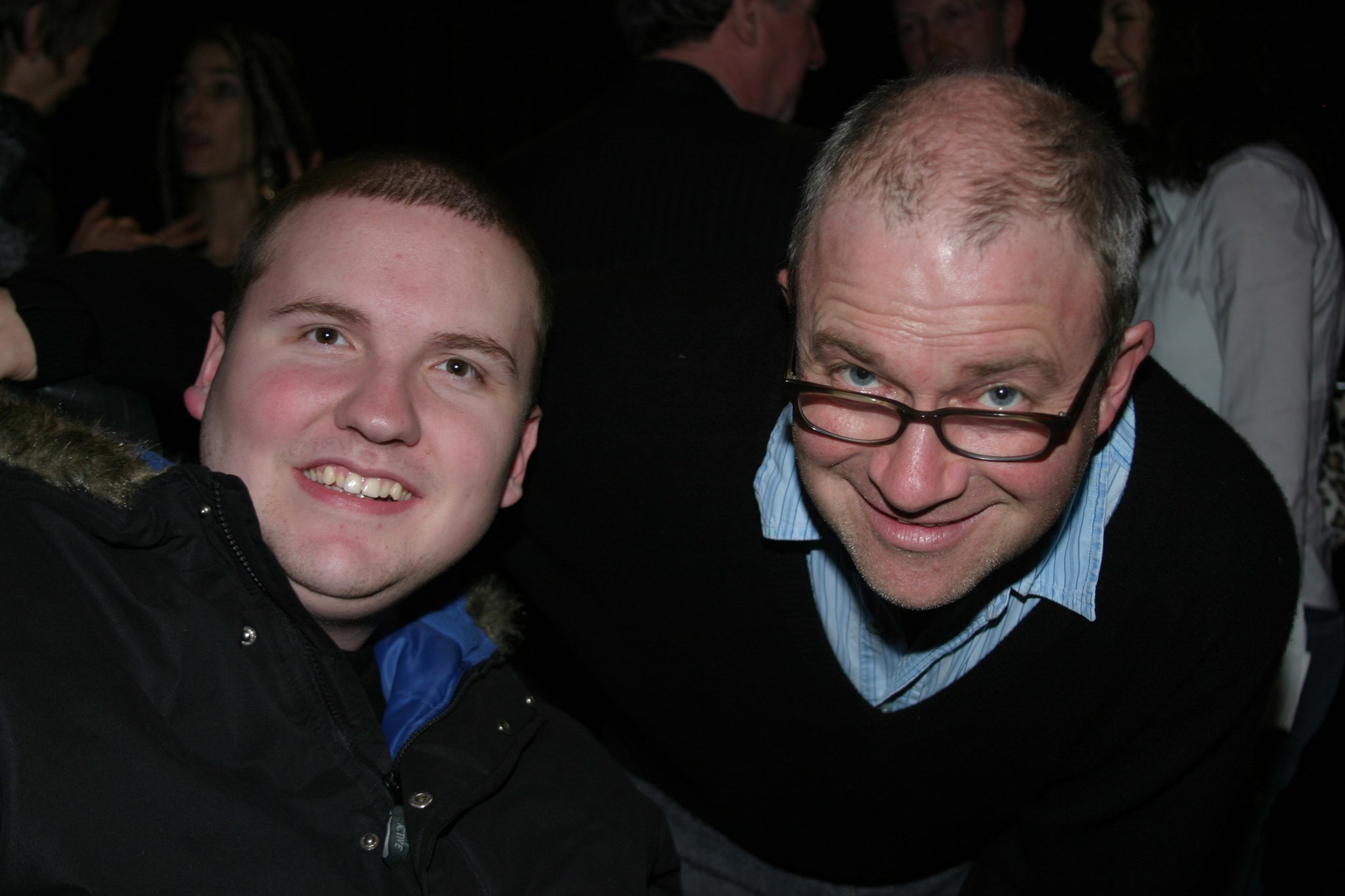 James with Harry Enfield.
