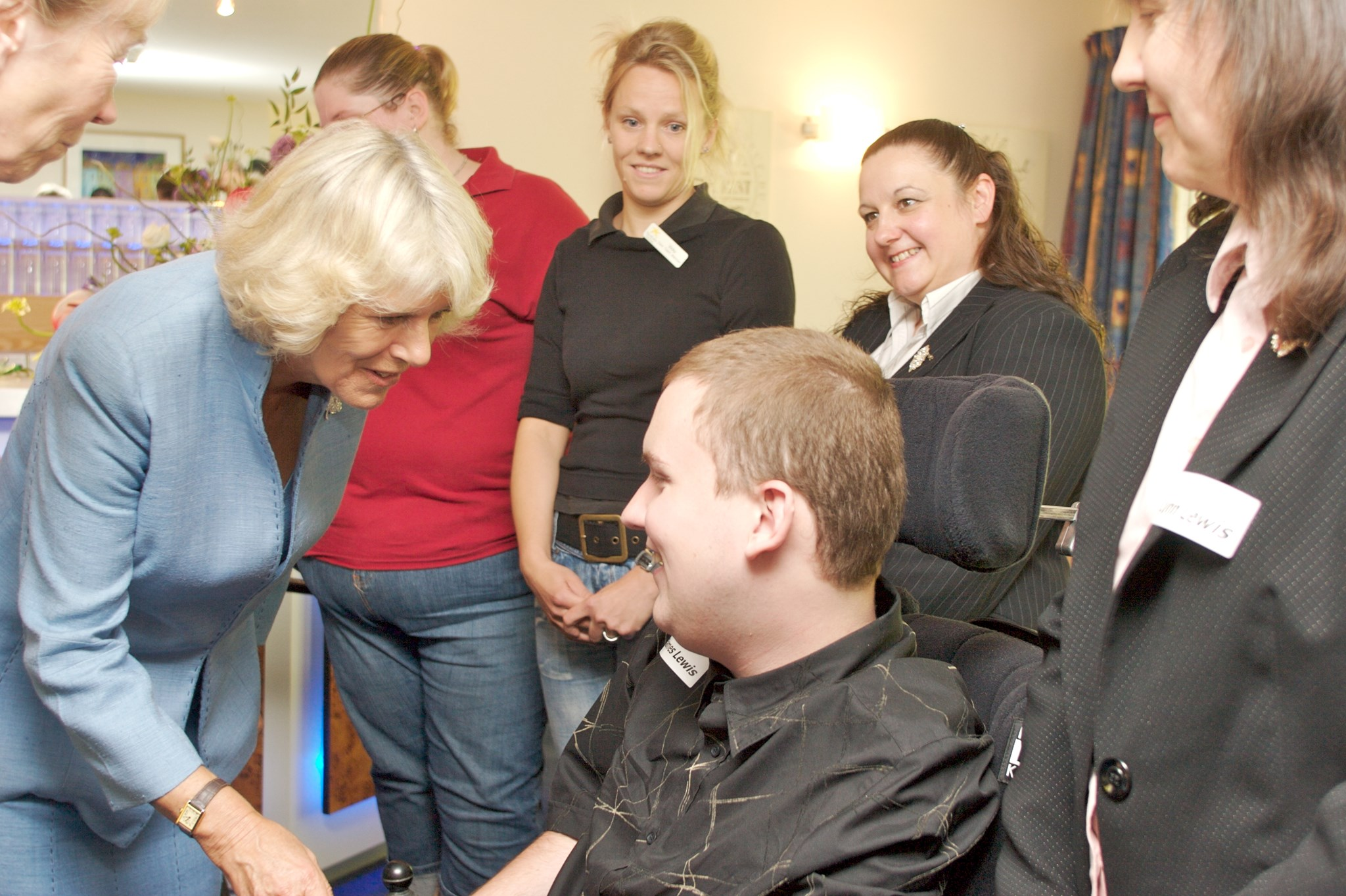Meeting HRH The Duchess of Cornwall. July 2007