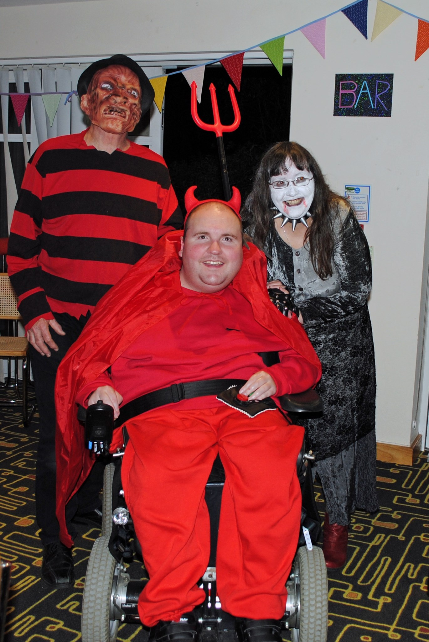 Halloween 2014 at Douglas House Halloween quiz. James last DH event before we lost him.