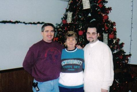 BILLY AND MOTHER AND MARK  (CHRISMAS 2000)