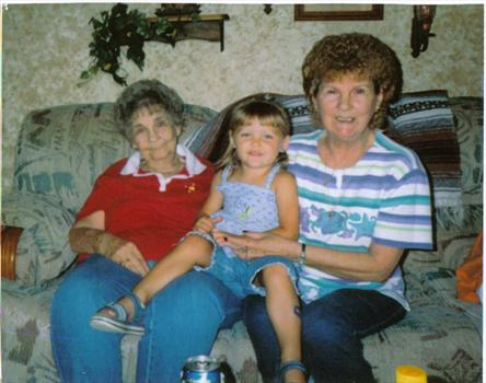 GRANDMOTHER AND MOTHER AND HAILEY ROSE