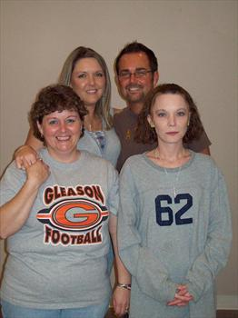 TRACY AND MARK AND SANDY WITH APRIL AT THANKSGIVING DAY