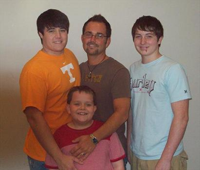 Aaron and Uncle Mark with Austin and Daniel