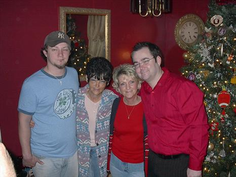 DUSTY AND CHARLOTTE WITH AUNT BOBBIE AND MARK  OF CHRISTMAS 2006