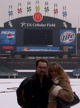 MARK AND TRACY IN CHICAGO AT WHITESOX STADIUM