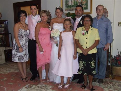 Just think Mother you are in us and for that we could not be who we are today!! Tracys wedding!!