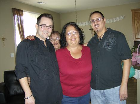 Me, Gavin and our aunties