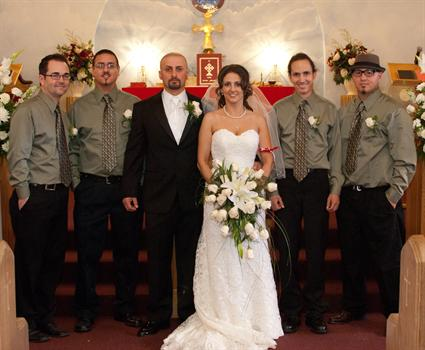 My sister- in- laws wedding an my new Brother-in-laws and my Husband Gavin