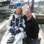 Hilary and Andy in Newlyn in 2009
