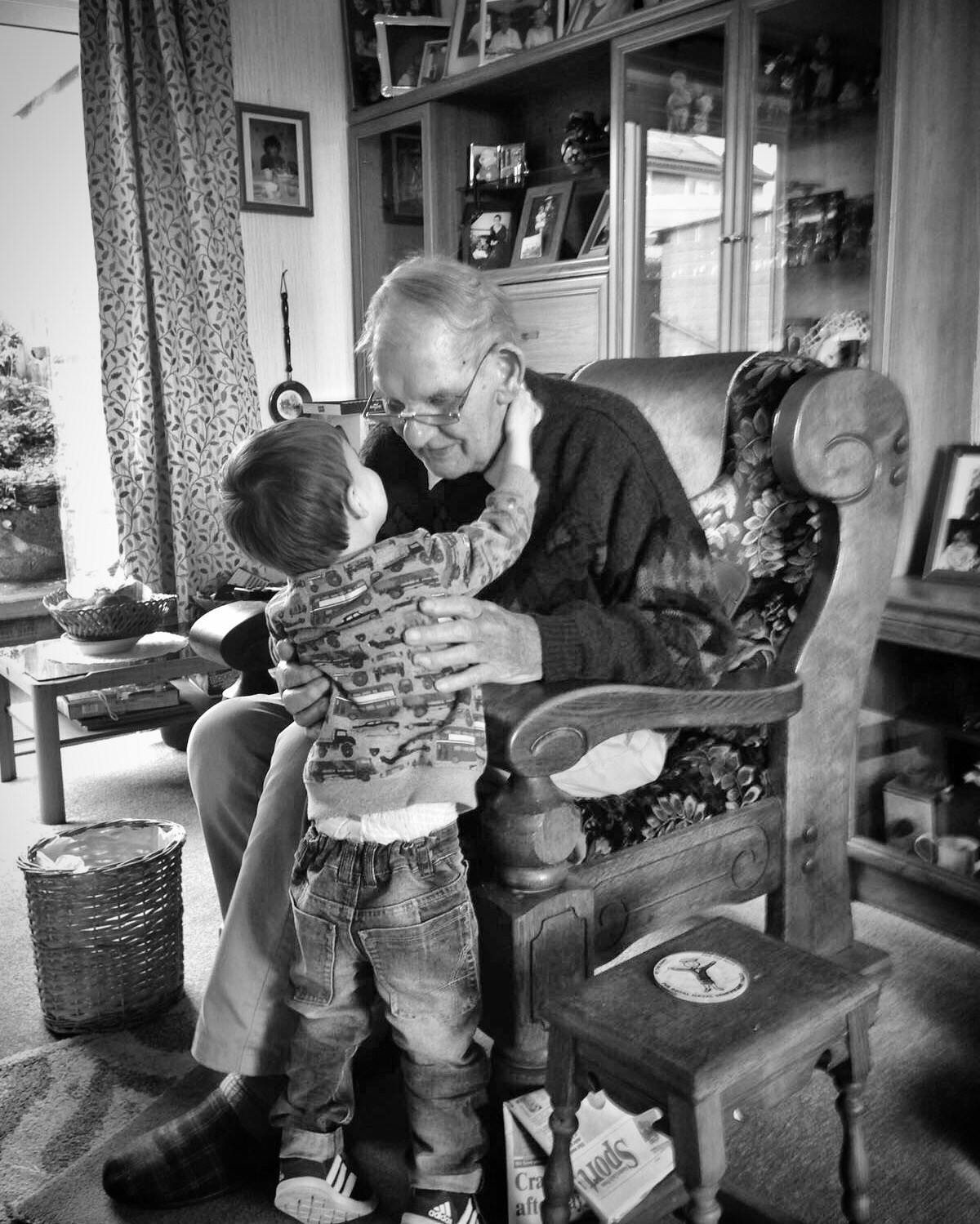 Little Ted with his Great Grandad x