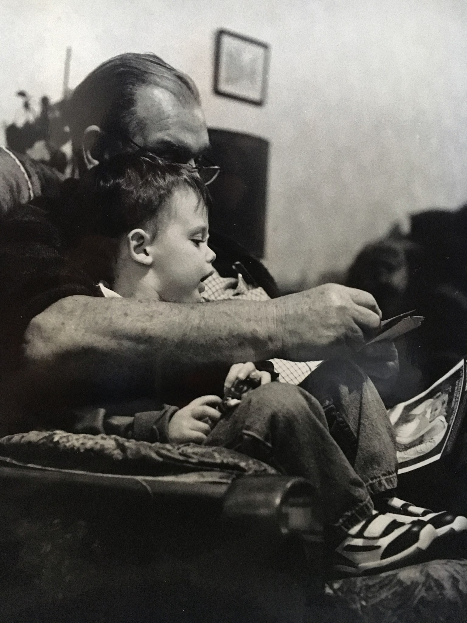 A very little Iwan and his Grandad x