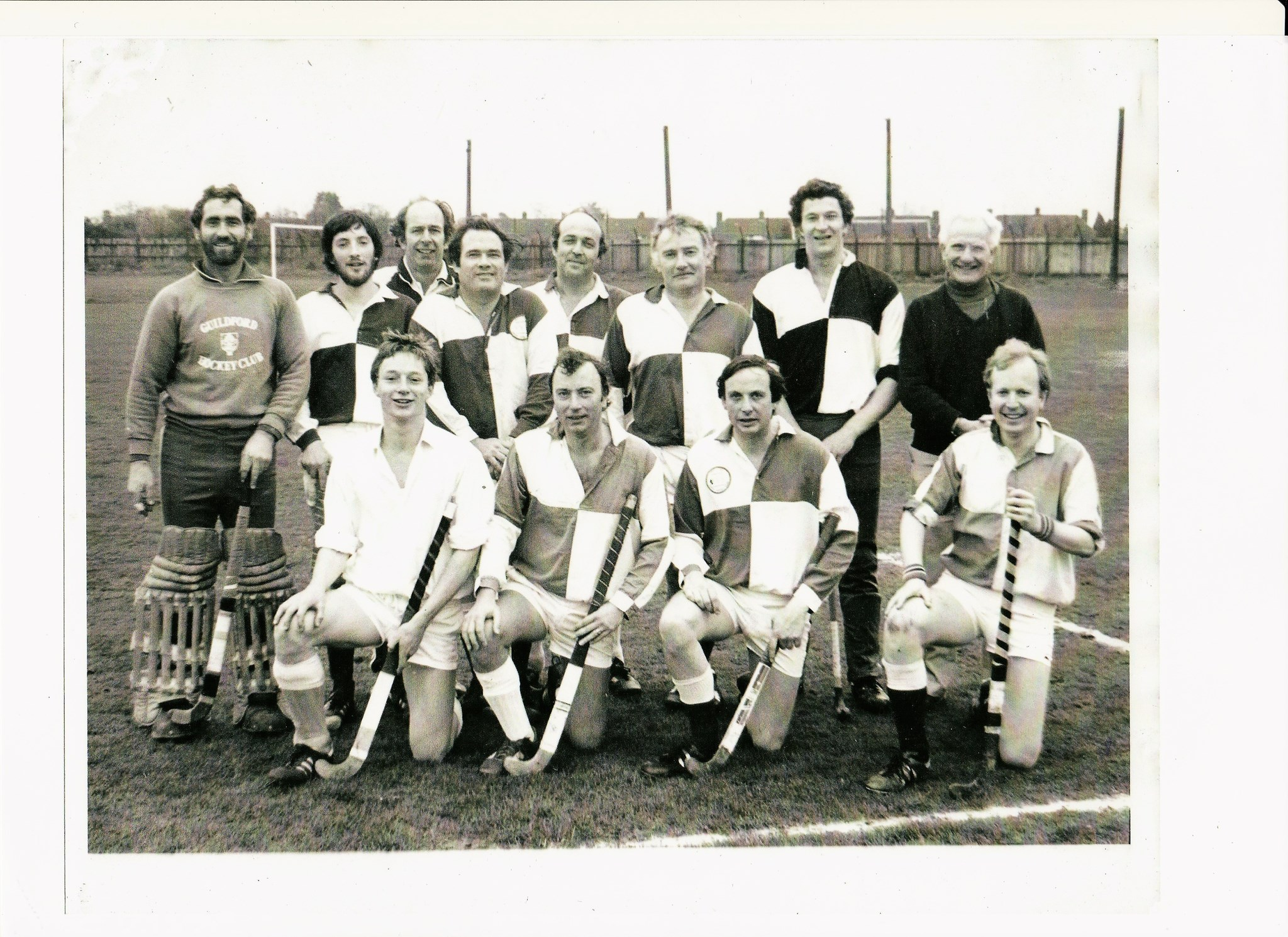 Jolyon Hockey 4 April 1981, Roger Lane (GK), Nick Bevan, Ken Luckett, Jol, Phil Cavalier , Keith Please, Robin Wales, Nolan Nighton, David Knapp, Julian Betts, Andy McMillan, Keith Smith (Rev)