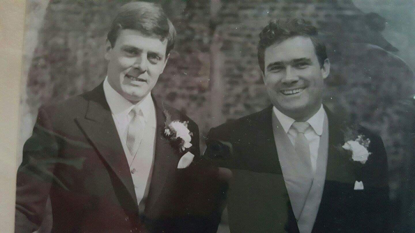 31 March 1966 John Rowe's wedding day with dad as his best man