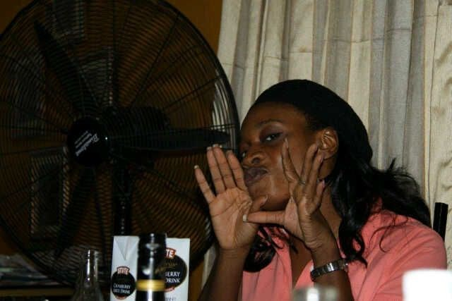 Ijeoma blowing kisses