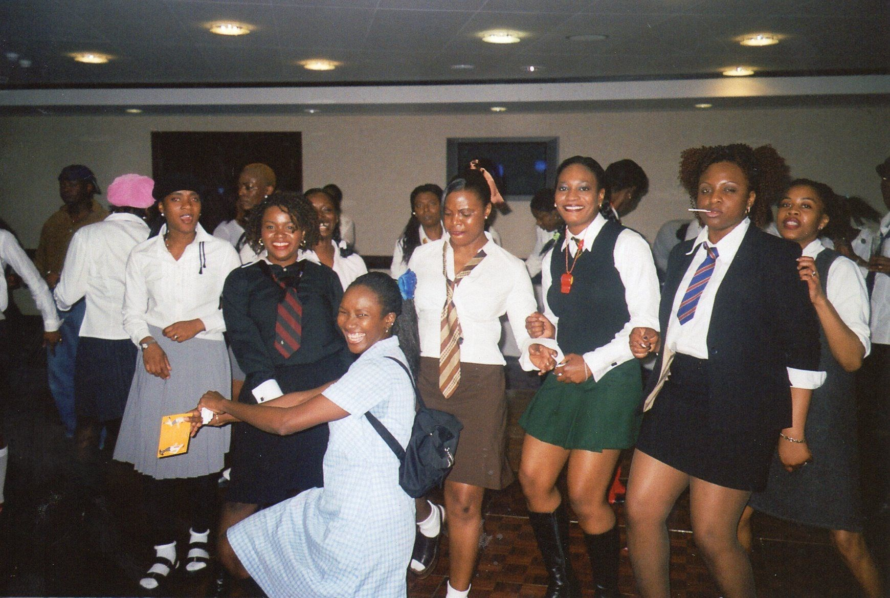 Ijeoma with Laura, Omara, Jos, Ronke and Buki at a Back to School Party in 2001