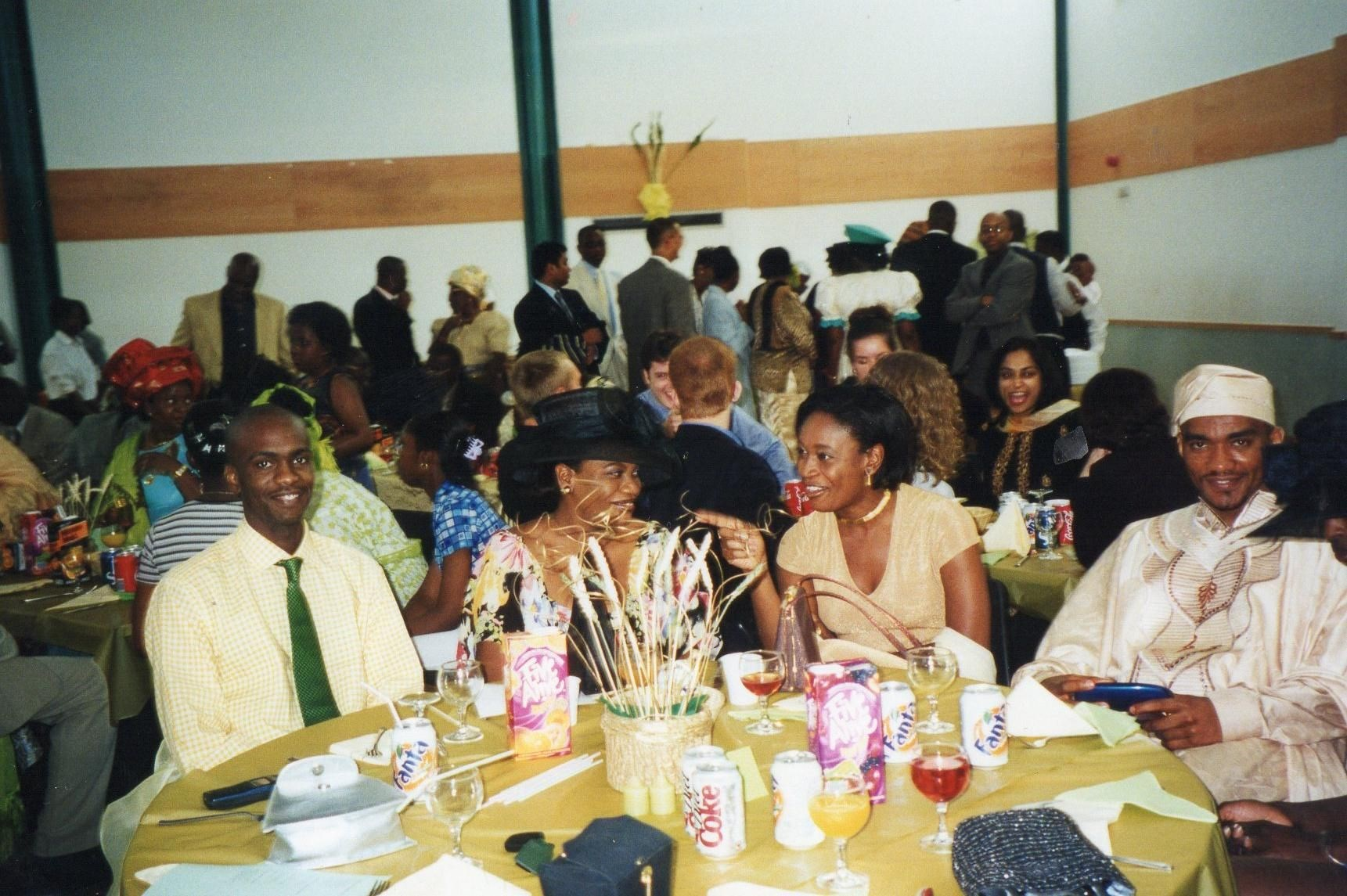 Eugene, Nwamaka, Ijeoma & Douglas at Laura's wedding - Aug. 1999